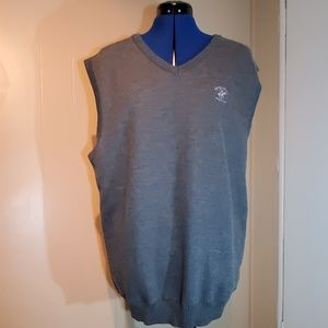 Beverly Hills Polo Club Gray Sweater V-Neck Vest